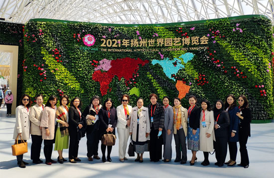 ASEAN Female Diplomats Delegation Attended Opening Ceremony of the International Horticultural Exposition 2021 in Yangzhou